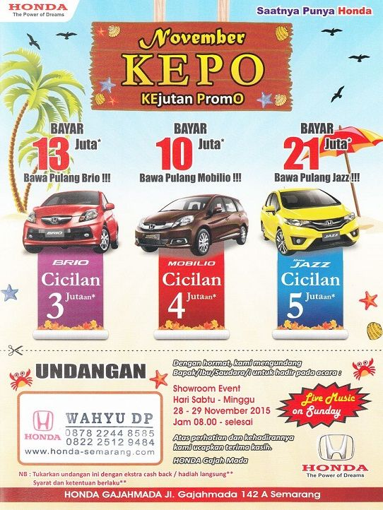 Harga Mobil Honda Info Harga Promo Diskon Honda Semarang