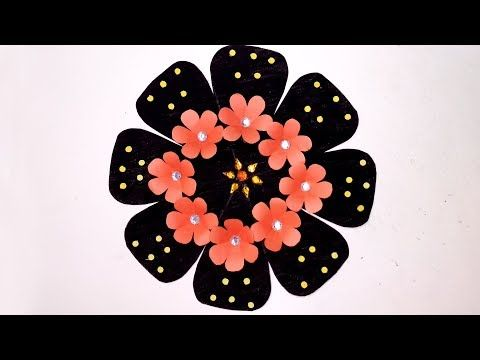How to make beautiful paper wall decoration for your sweet home jarine   also diy easy flower making rh pinterest