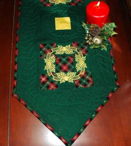 Advanced Embroidery Designs. Christmas Table Runner With Embroidery. | Embroidery | Pinterest