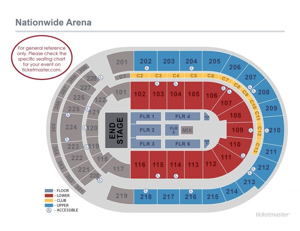 Nationwide Arena Seating Charts Chart Seating Plan
