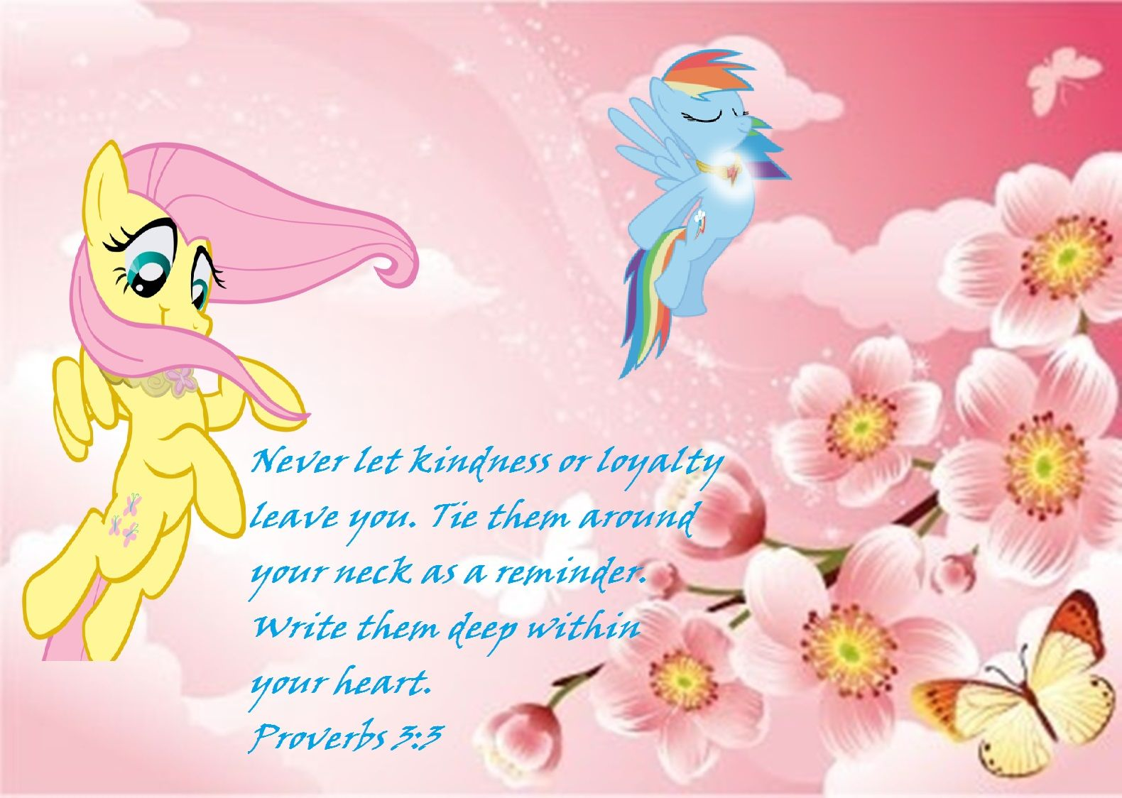 Fluttershy Proverbs 3 3 My Little Pony Kindness Quotes Proverbs