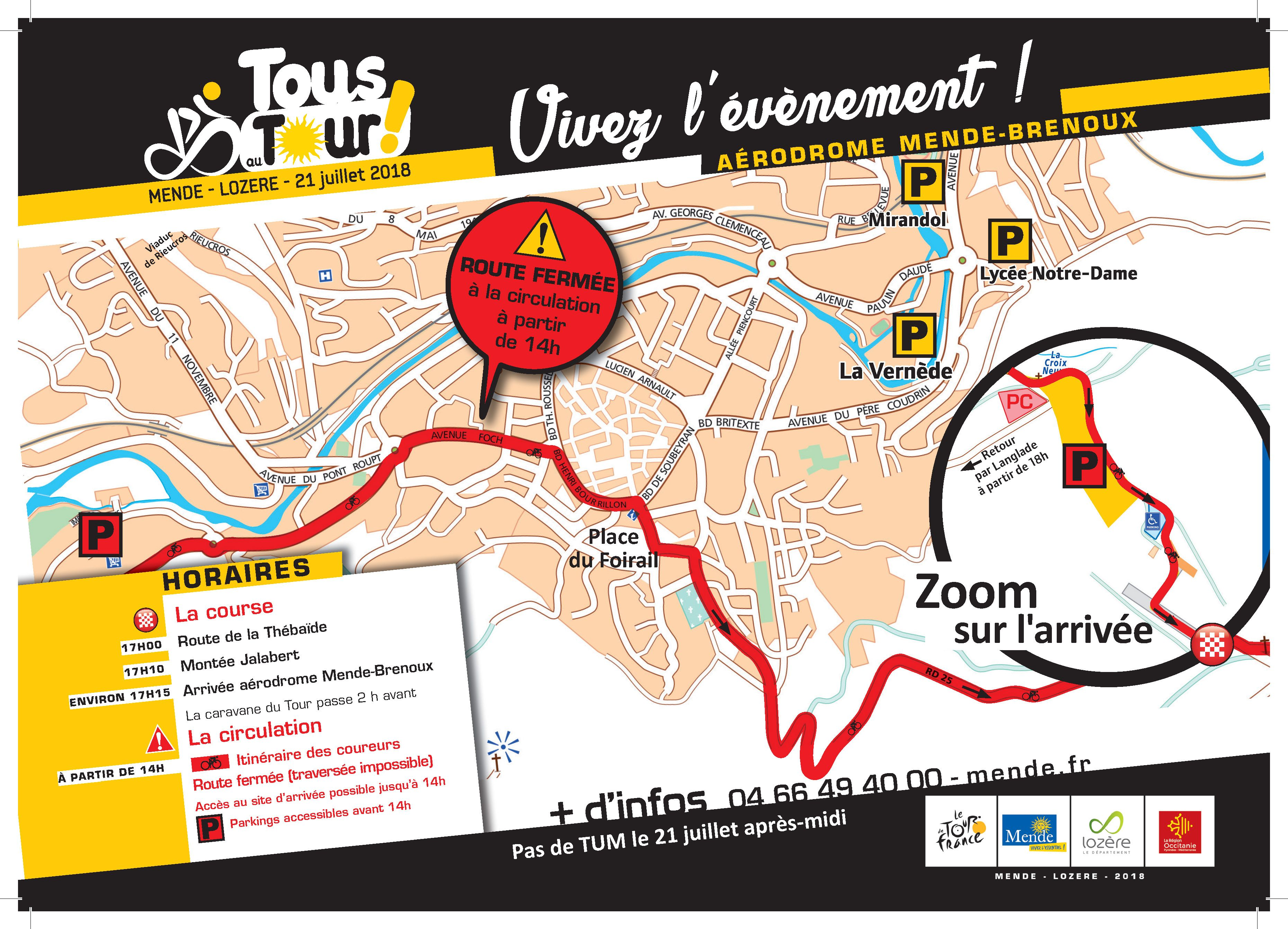 carte de circulation dans Mende, Tour de France 2018 | Tour de france, Carte, Circulation