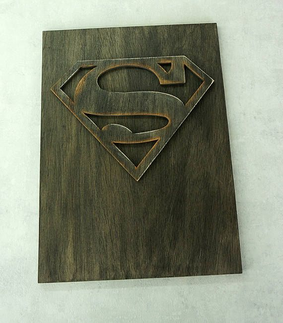 & Superhero Superman Wall art wooden wall art