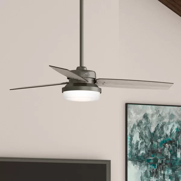 52 Sentinel 3 Blade Standard Ceiling Fan With Remote Control And Light Kit Included Ceiling Fan With Remote Ceiling Fan Led Ceiling Fan