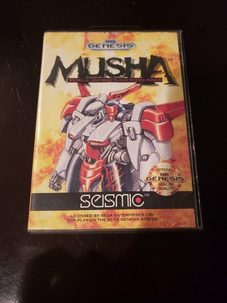 M U S H A Sega Genesis 1990 Complete Cib Authentic Retro Video Games Sega Genesis Genesis