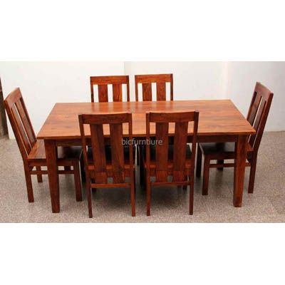Large 6 Seater Wooden Dining Set In Sturdy Construction Kuhnya