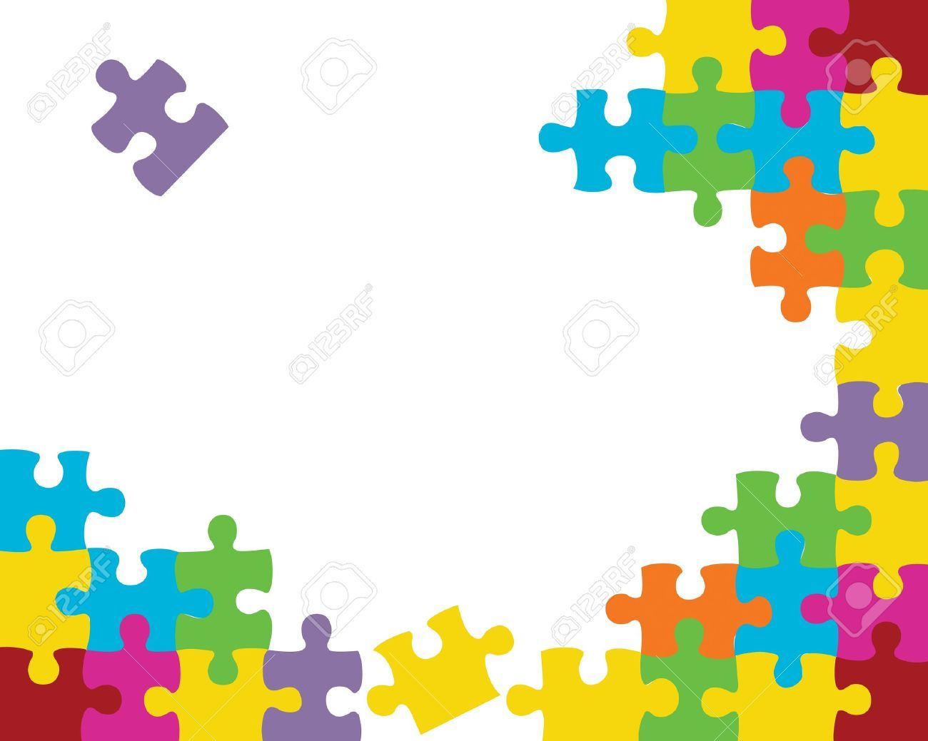 Puzzle jigsaw. Abstract background illustration periscopes