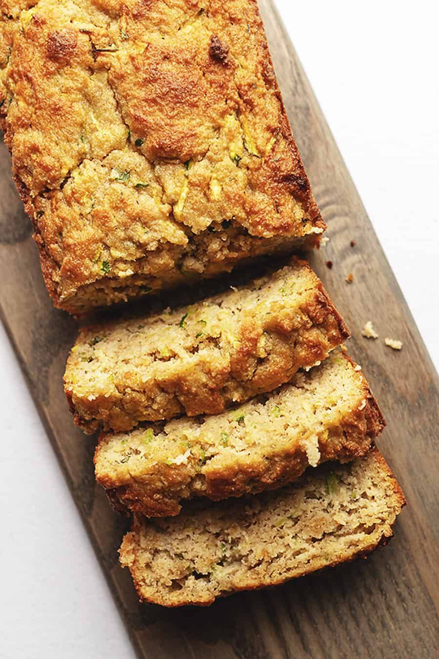 This Low Carb And Keto Zucchini Bread Is Made With Almond Flour And Is Perfectly Moist Walnuts Zucchini Bread Healthy Low Carb Zucchini Bread Best Keto Bread