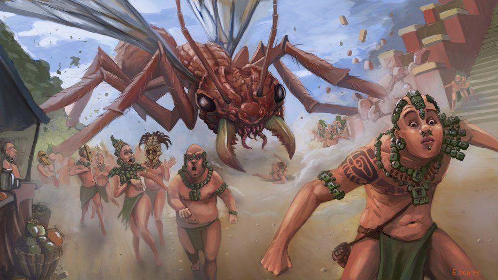 Attack of flying red bull ants by DrFaustus3 | Sword and sorcery, Fantasy  life, Dungeons and dragons
