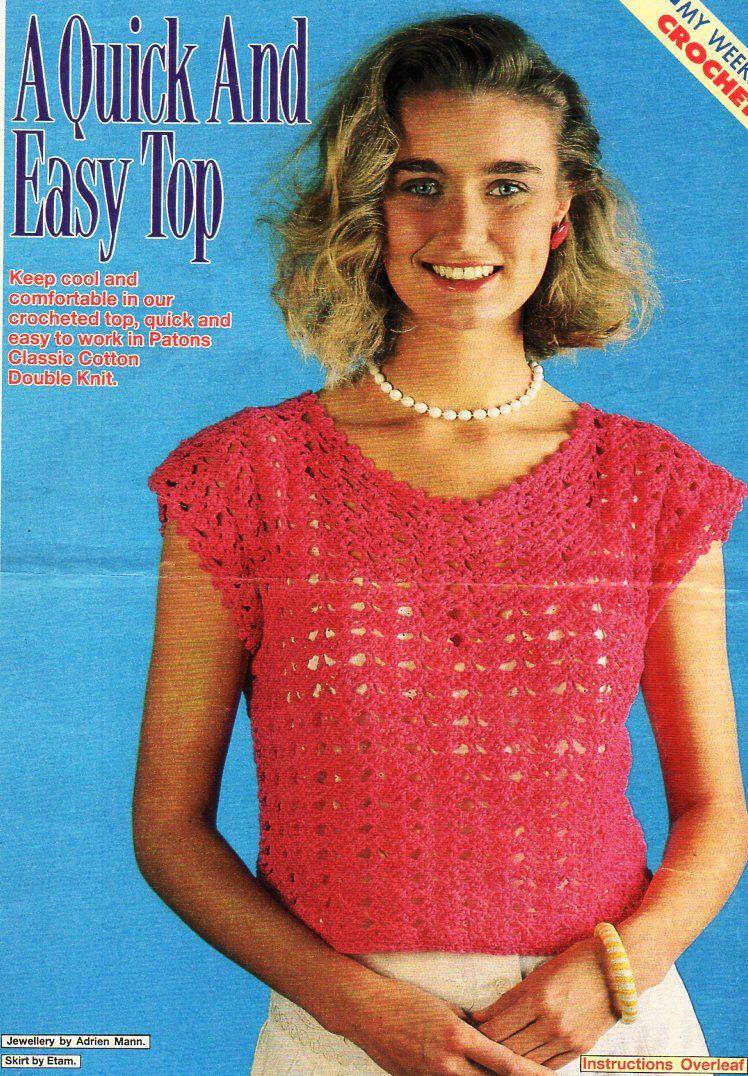 womens crochet top pattern CROCHET PATTERN pdf ladies crochet ...