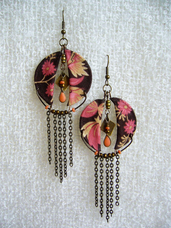 Calico Nouveau, fabric earrings | Fabric earrings, Fabrics ... - photo#49