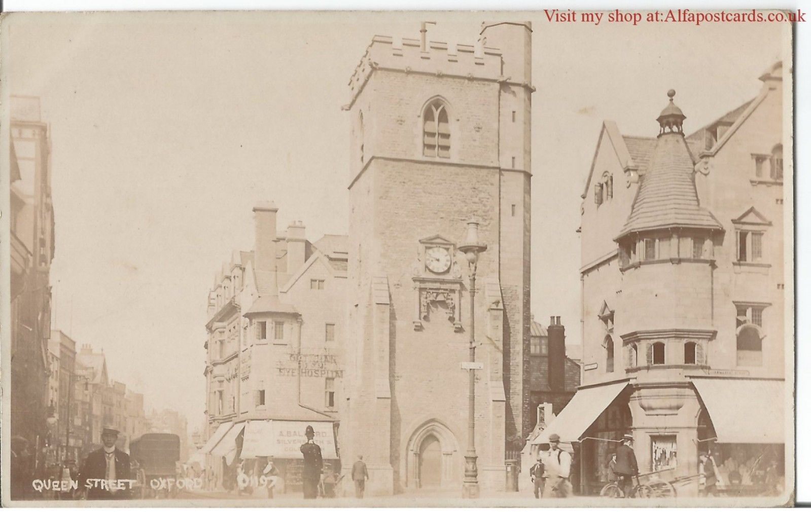 Oxford Queen Street c1910 Real Photo Vintage Postcard in Collectables, Postcards, Topographical: British | eBay