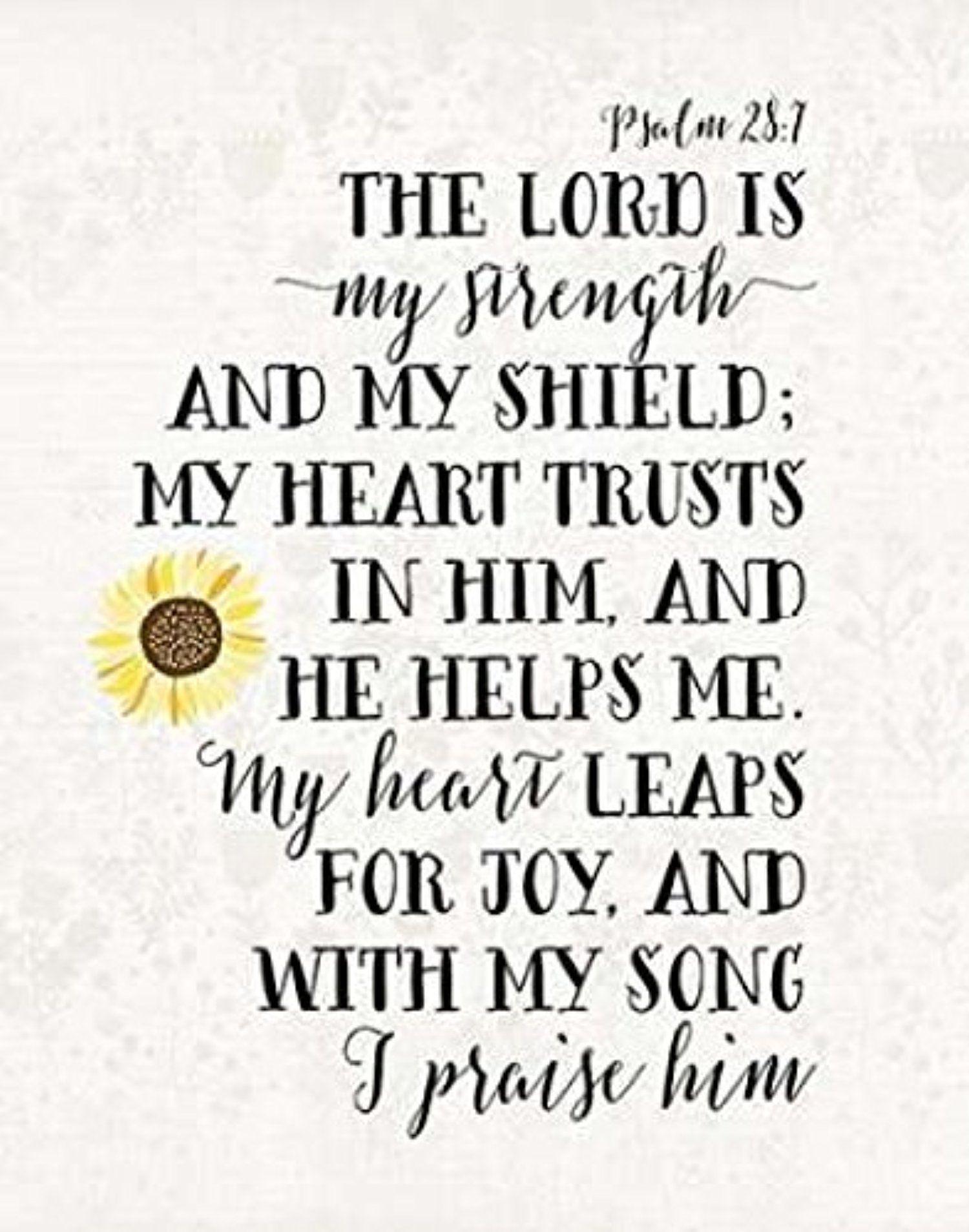 The Winning Psalm 28 7 Poster Print By Tara Moss 11 X 14