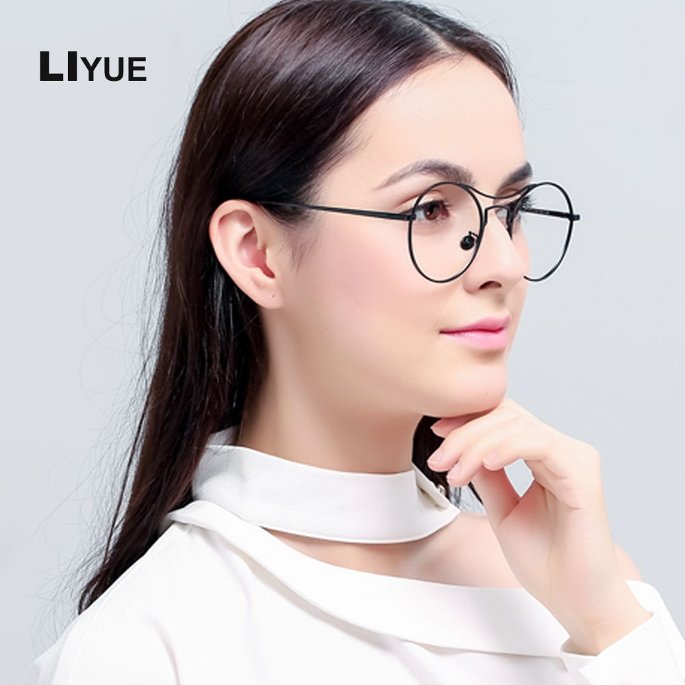 4cfb4d619b LIYUE 2017 Frog glasses Korea Design myopia eyeglasses men women Retro  Metal Glasses Frame Trendy spectacles frame high quality