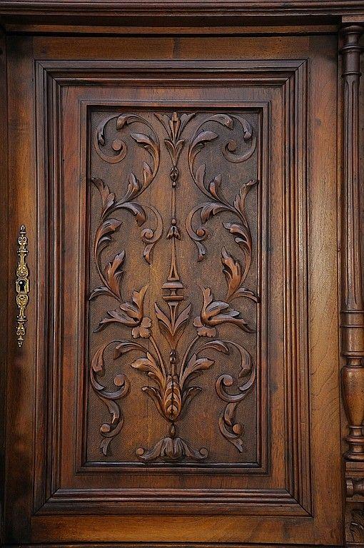 A Renaissance Revival Buffet A Deux Corps Door Design Wood Front Door Design Wood Wooden Main Door Design