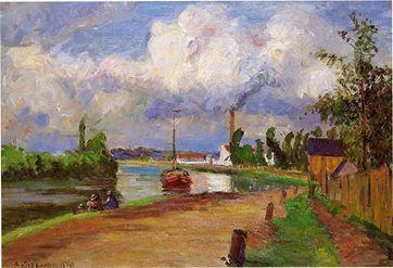 Camille Pissarro - Landscape of the Oise, 1876