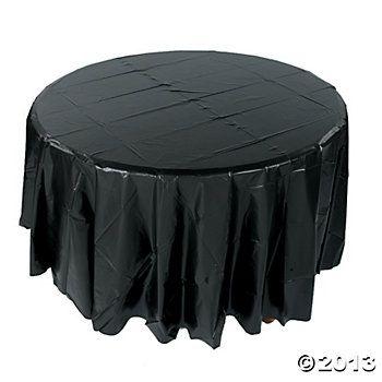 Black Round Plastic Tablecloth Mia S
