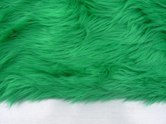 Green Faux Fur by everafterfabrics on Etsy, $4,25