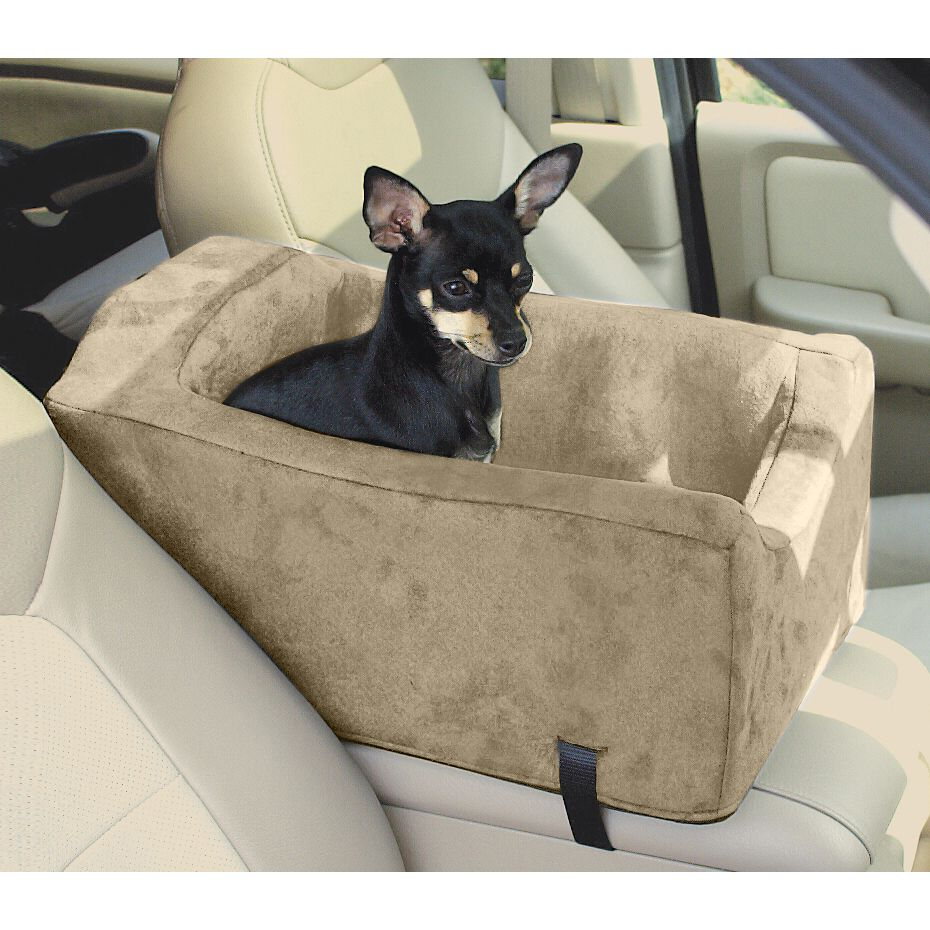 Car seats and barriers suv console luxury animals matter