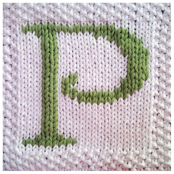 PDF Knitting pattern capital letter P afghan / blanket square - instant download after purchase         September 01, 2014 at 08:44PM