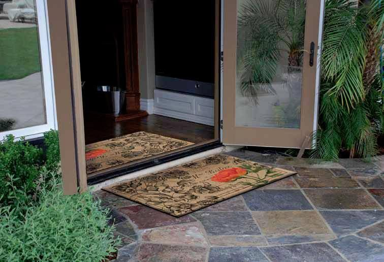 Have a mat inside and outside your front door one to