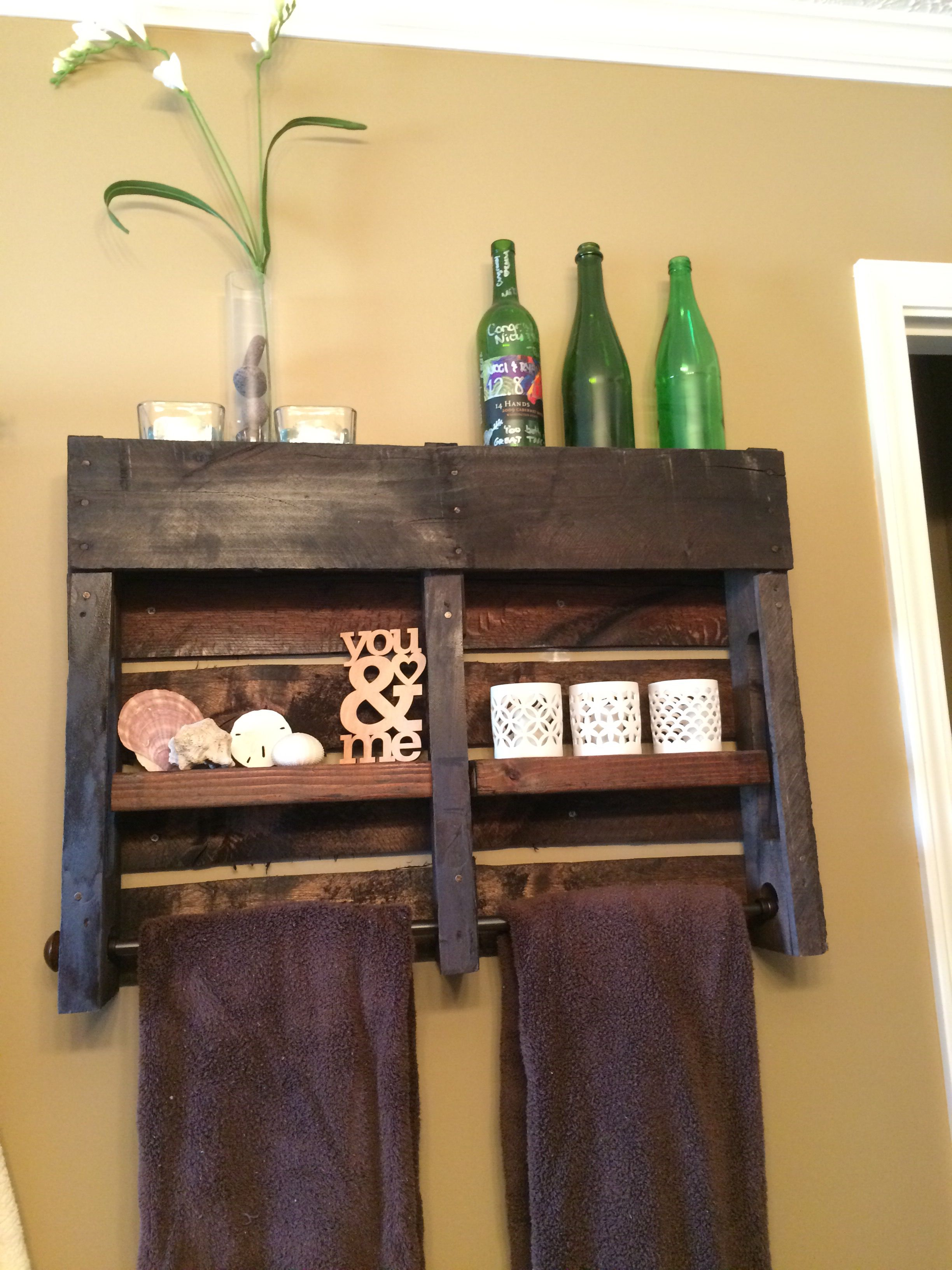 My Diy Version Of A Pallet Towel Holder