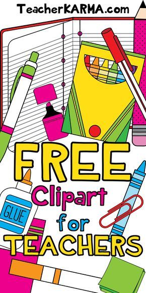 School Supplies Clipart 78 Pcs Free Clipart For Teachers Teacher Classroom Free School Supplies