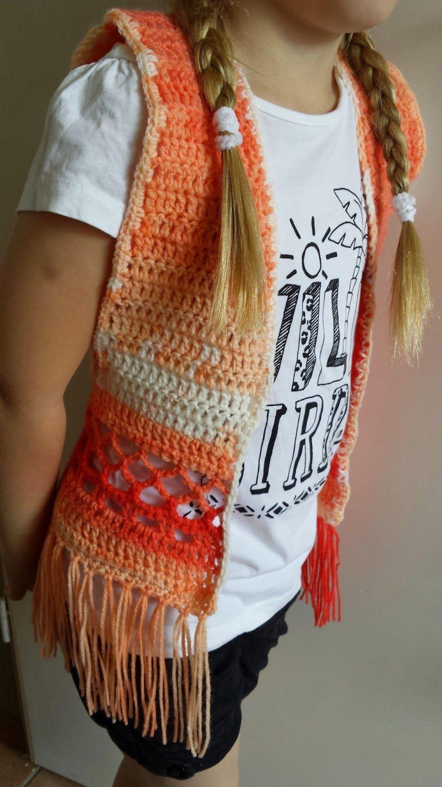 Voorkeur Ibiza hesje met patroon | haakpatronen poncho/sjaals | Pinterest  JR37