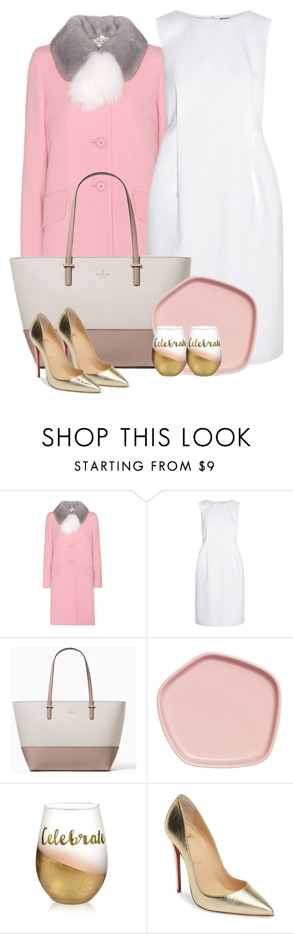 """Celebrate"" by cherieaustin ❤ liked on Polyvore featuring Miu Miu, Jil Sander, Kate Spade and Christian Louboutin"