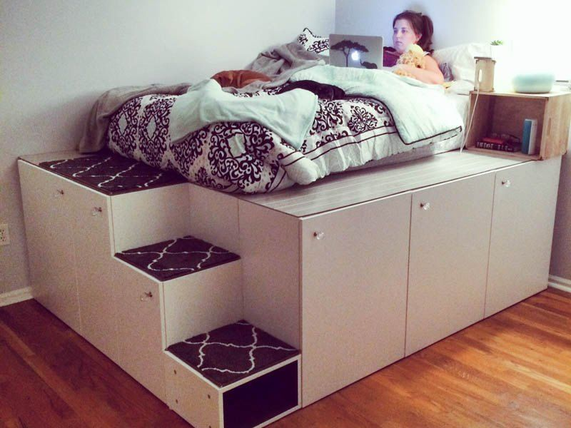 This man came up with a clever way to get bedroom storage with IKEA ...