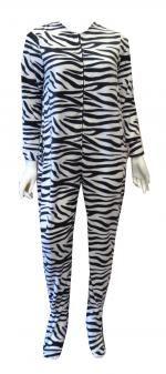Black And White Zebra Fleece Onesie Footie Pajama With Flap.....looks so comfy - I love it!! Adult babygro...hahaha.