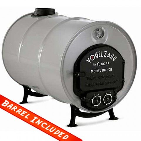 Vogelzang Deluxe Barrel Stove Kit With Barrel Northline