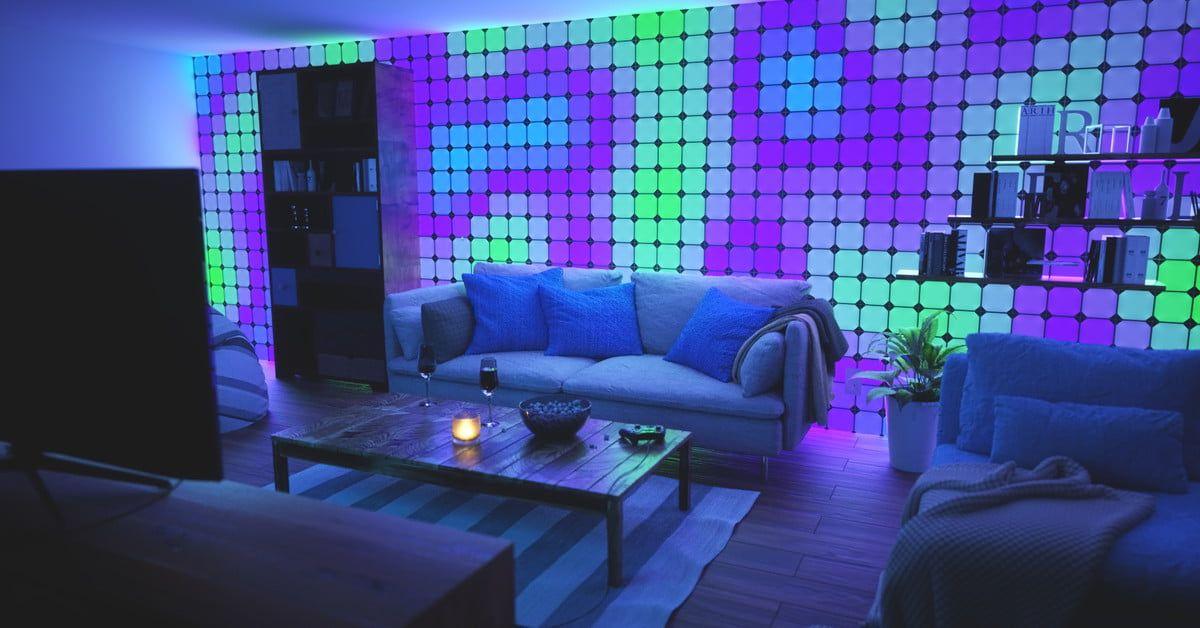 The Nanoleaf Canvas Will Light Up Your Entire Wall Digital Trends Light Panels Color Changing Lights Nanoleaf Lights