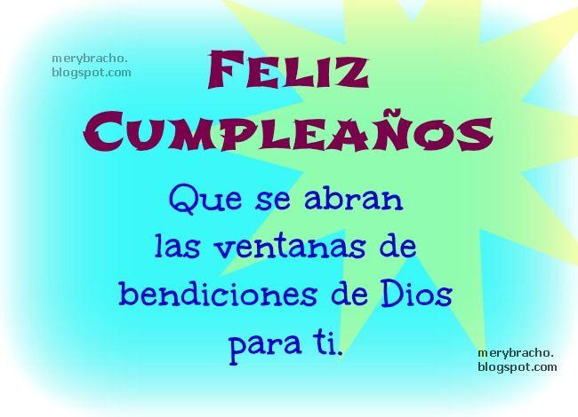 Mensajes Cristianos para felicitar Cumpleaños con imágenes  FeLiZ CuMpLeAñOs Pinterest
