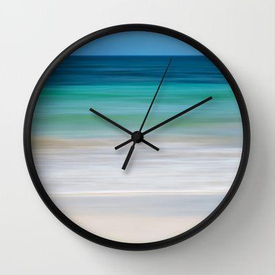 SEA ESCAPE Wall Clock by Catspaws - $30.00