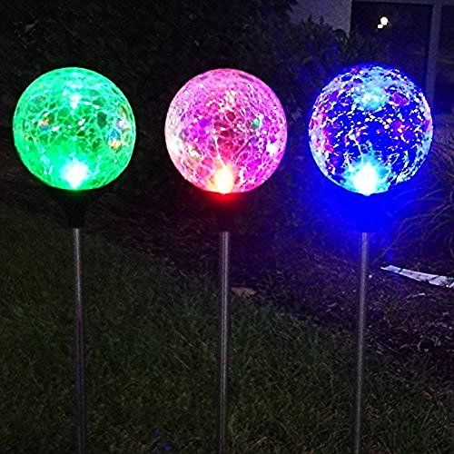 Sogrand Mosaic Decoration Stake Light Solar Light With 3 Color Mosaic  Lampshade Lights In One Color Box)Solar Garden Lights,Solar Pathway Lights, Solar Led ...