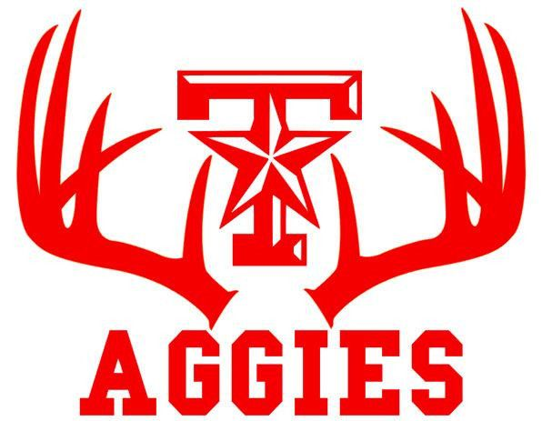 Deer hunting antler car truck window decal texas am aggies 11 5 x 14 inches
