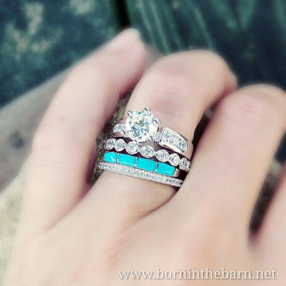 Thin Turquoise Stacking Ring Borninthebarn Turquoise Wedding Jewelry Western Wedding Rings Turquoise Wedding Rings