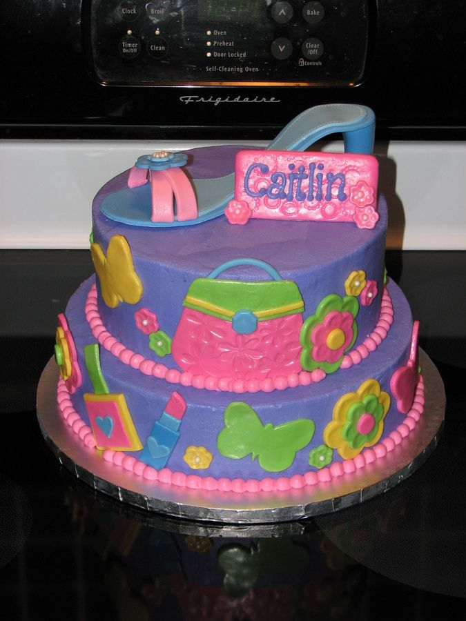 This cake was for an 8 yr old little girl and its based on the