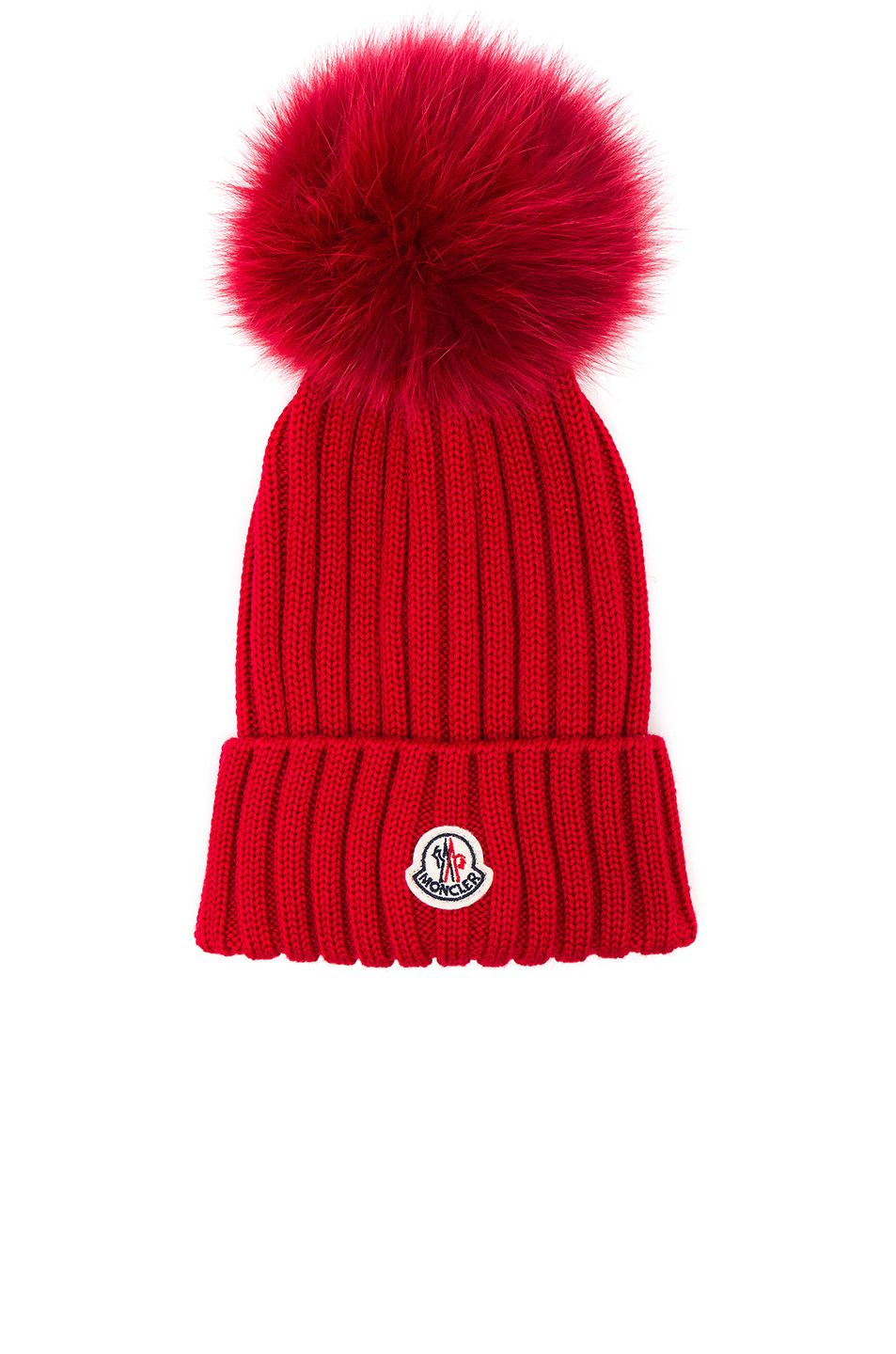 MONCLER Berretto Beanie With Fox Fur Pom.  moncler    db1611e39f2