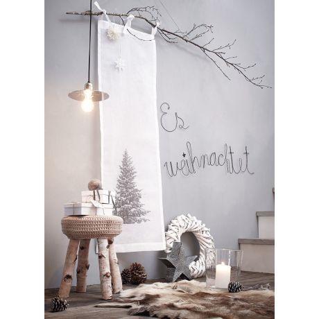 Organdy Vorhang, transparentes Material, Baumwolle Vorderansicht - weihnachtswanddeko basteln