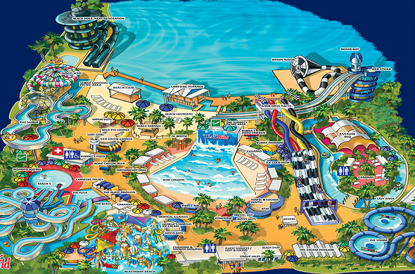 Map Of Wet N Wild Orlando Wet 'n Wild Orlando Waterpark   Attractions | My Orlando Guru