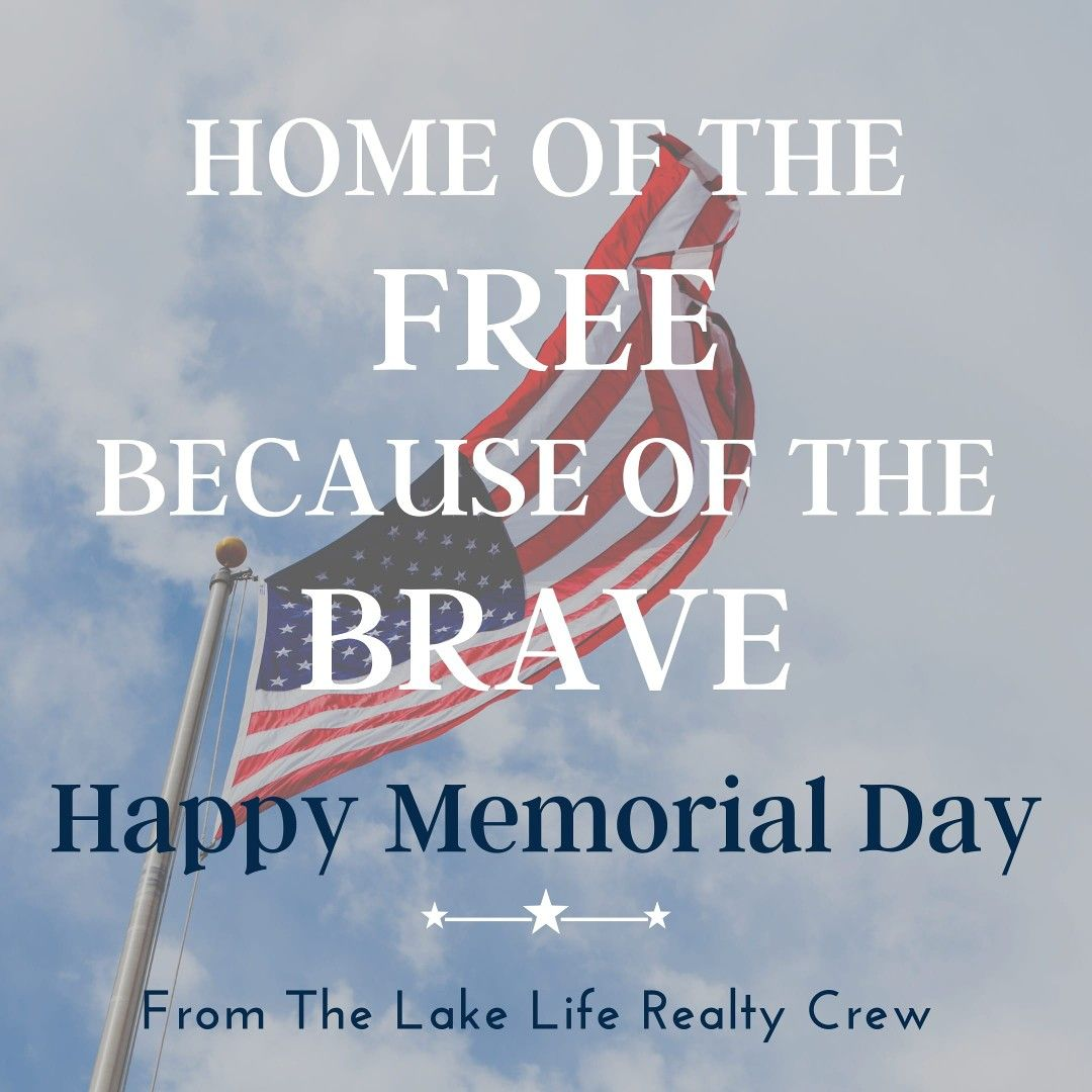 Take a moment today to remember and honor the brave men and women who have given their lives for our freedoms.  🇺🇸 . . #MemorialDay #America #LakeLifeRealty #RealEstate #Realtor #RealtorLife #UpstateSC #SCRealEstate #LakeLife #LoveWhereYouLive