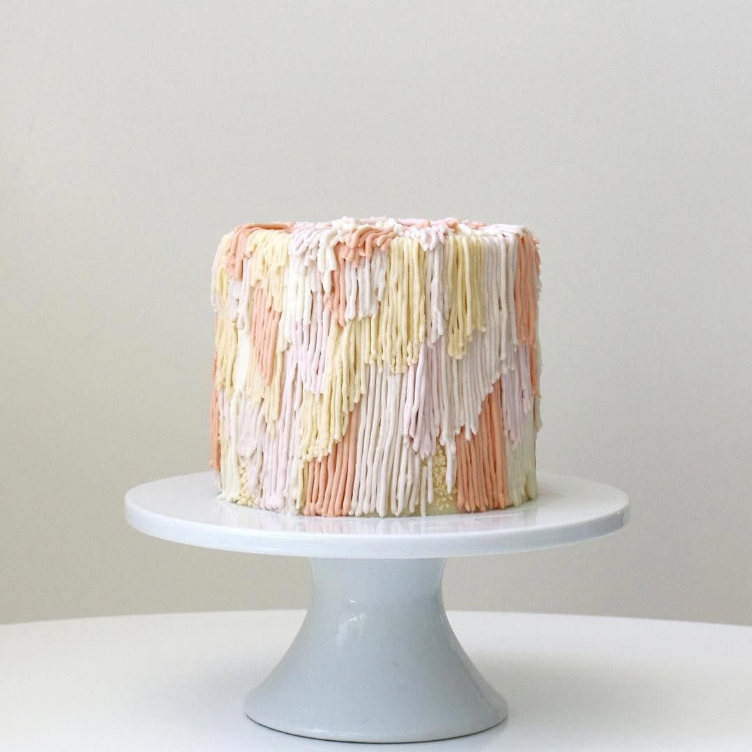 Colorfully Textured Buttercream Cakes Frosted to Look Like Fuzzy Shag Rugs
