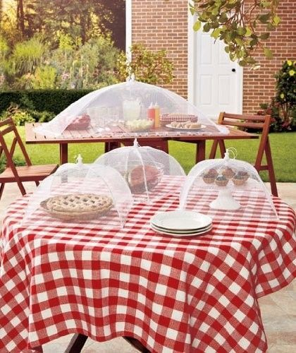 Set 4 Mesh Food Covers Flies Pests Bugs Plate Outdoor Cover Picnic