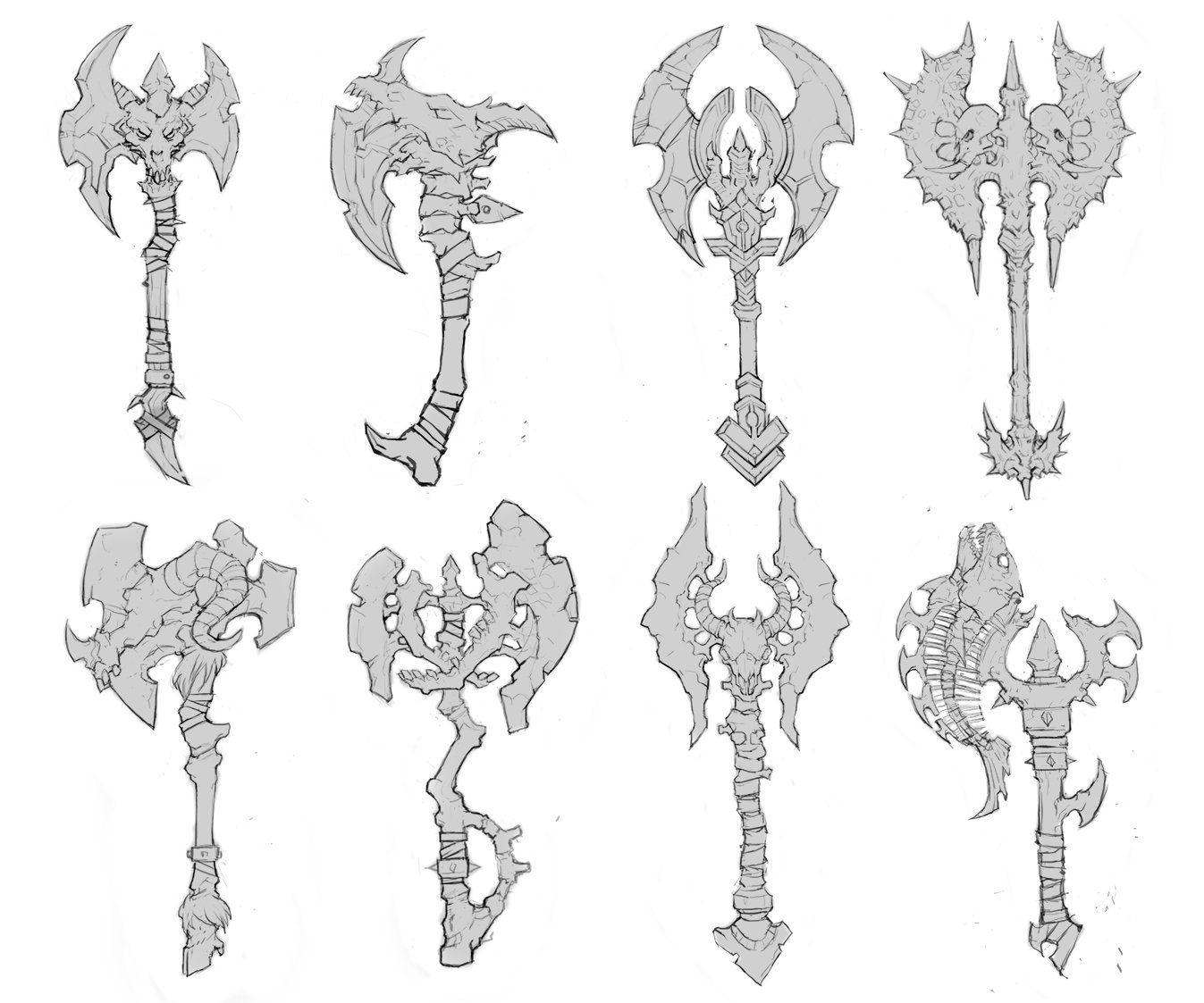 ArtStation Demon Axe , Betty Jiang art props/weapons