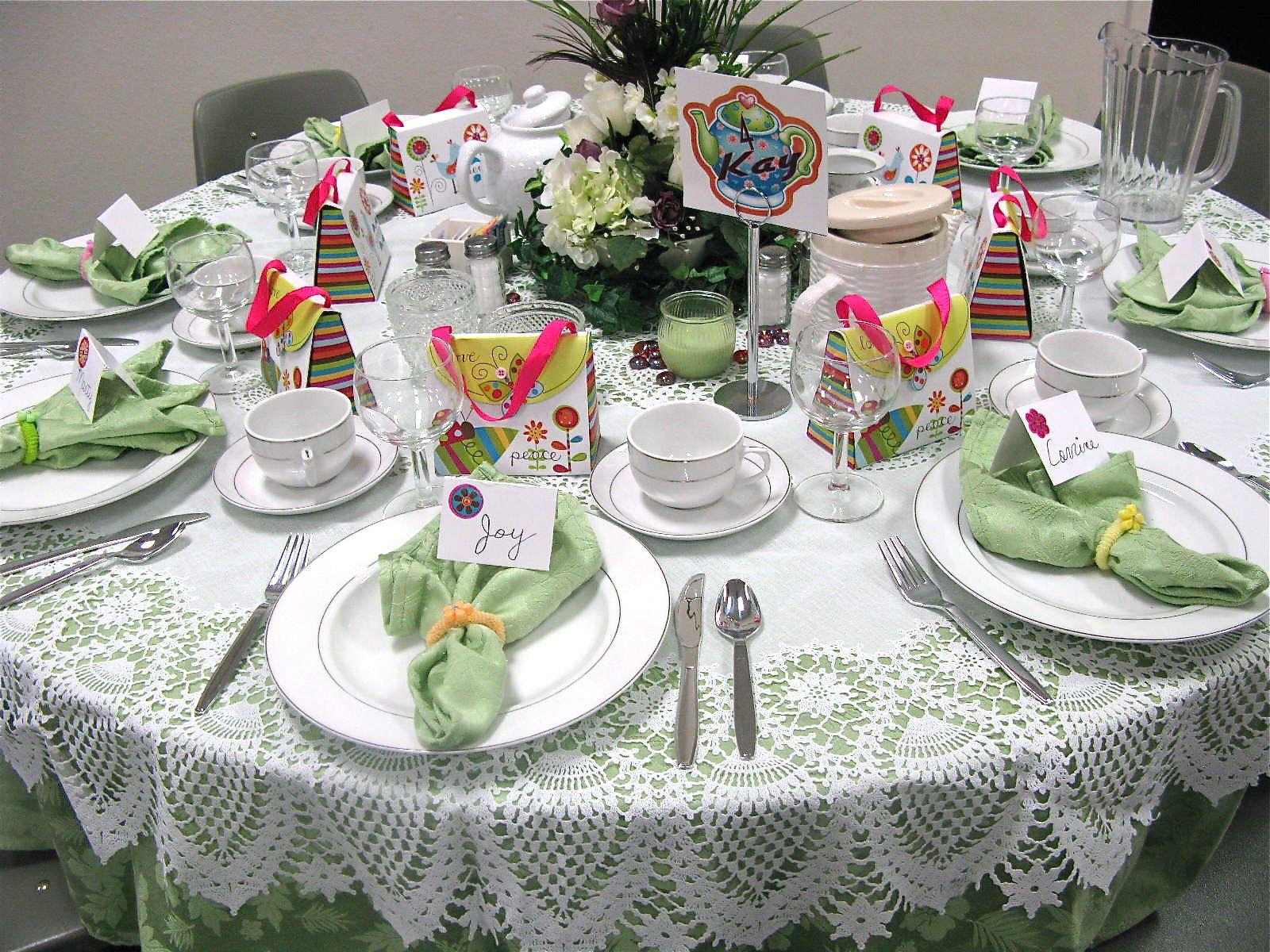 Ladies Tea Table Setting | Tea, scones AND cowboy hats | tea finger ...