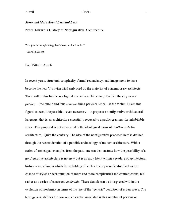 pier vittorio aureli  architecture theory  essay topics rashomon  pier vittorio aureli text published in log no  rashomon effect higher  education