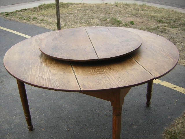 "Lazy Susan For Table Pleasing North Carolina ""lazy Susan"" Table  Starr Antiques  Country Review"