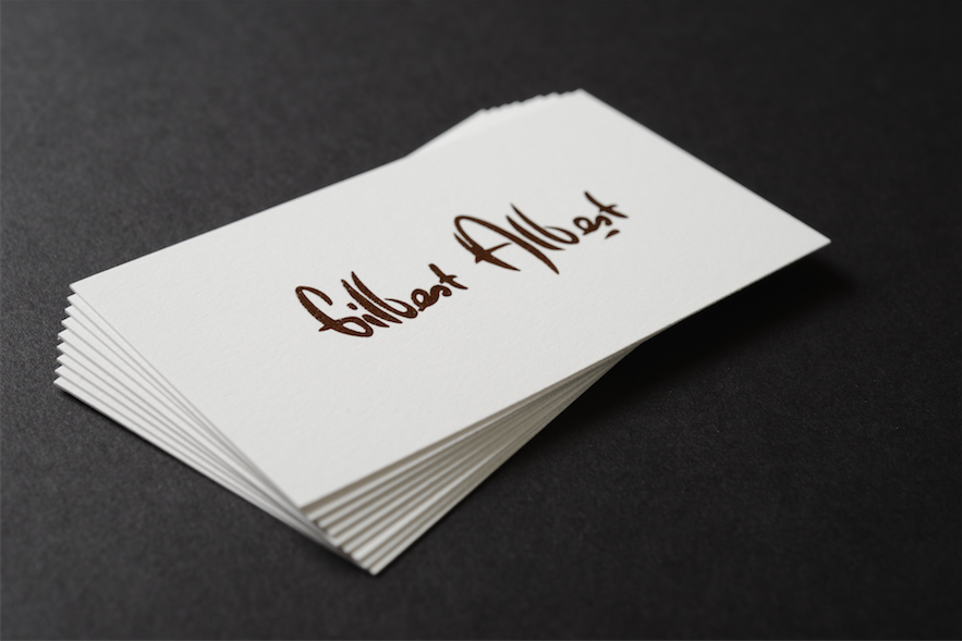 Double Sided Raised Ink Business Card! Contact us at info@japanprint ...